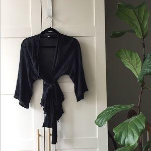 Anthropologie Moth Knit Wrap Cardigan